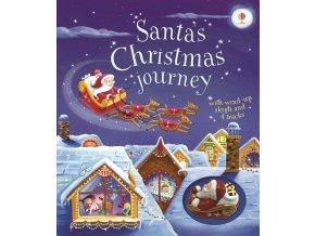 Santa's Christmas journey with wind up sleigh