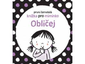 První černobílá knížka pro miminko Obličej 1