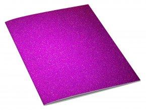 GLITTER sešit A4 fialový
