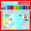 STABILO Pen 68 brush 24 ks pouzdro