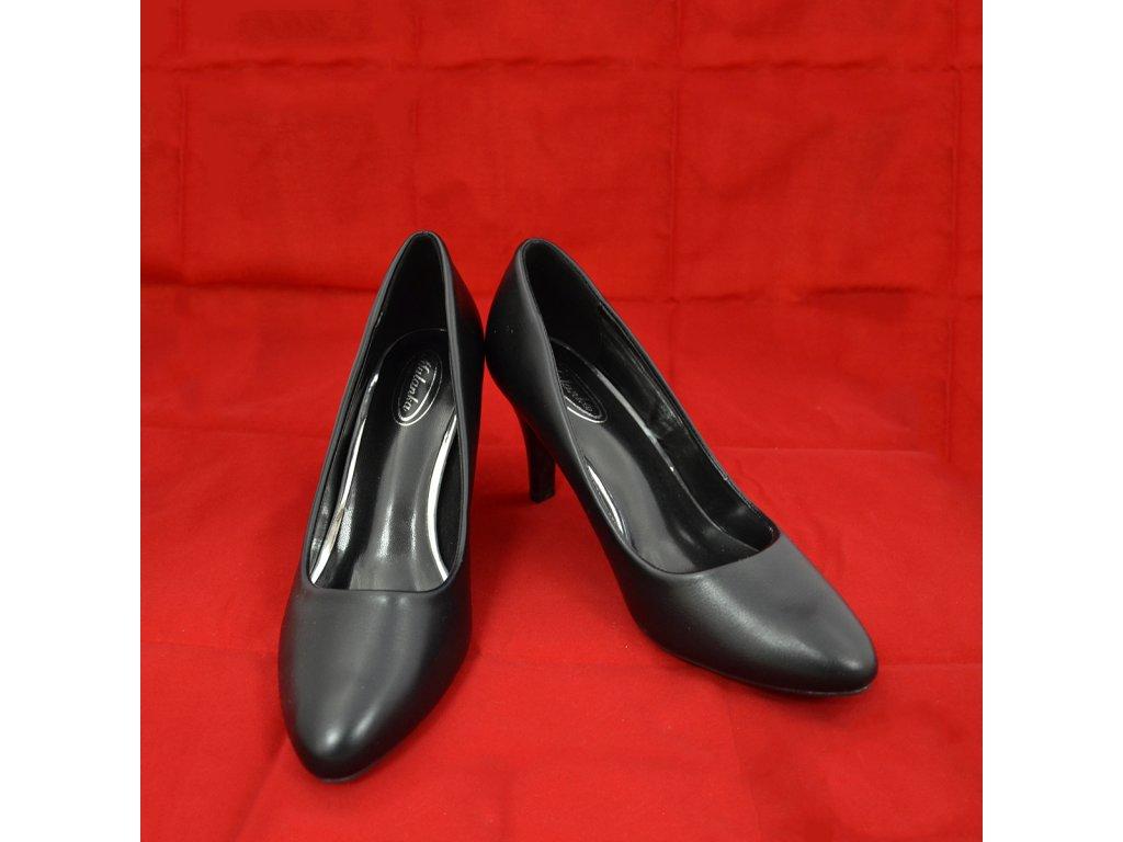 Boty Černé na Podpatku (Pohled zepředu)