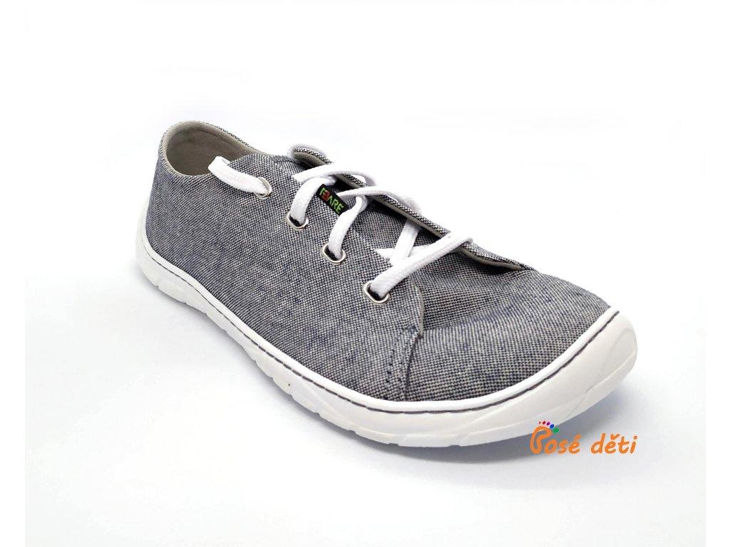 Fare Bare B5611461 - plátěnky šedé (tkaničky)