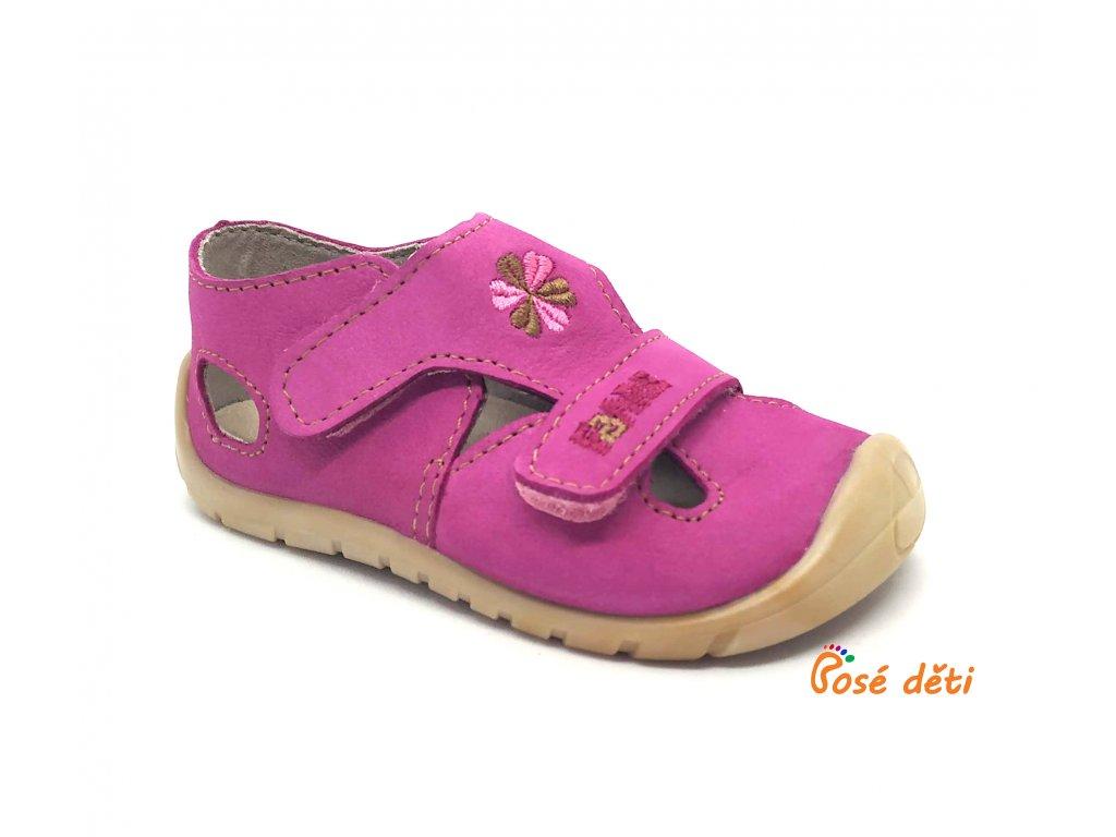 Fare Bare 5061252 - sandály kožené růžové
