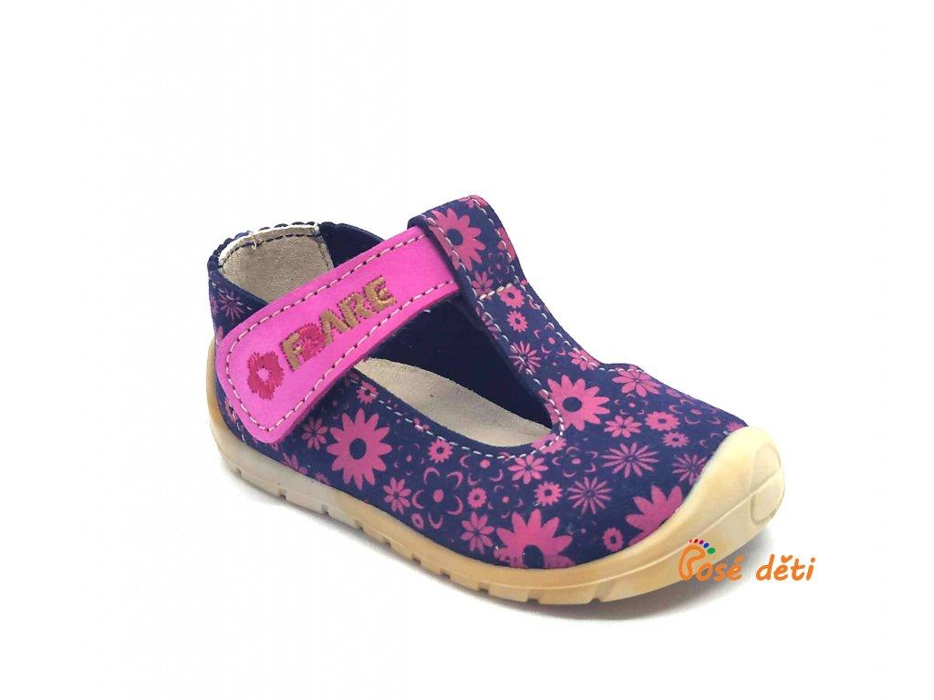 Fare Bare 5062251 - sandály textilní s růžovou