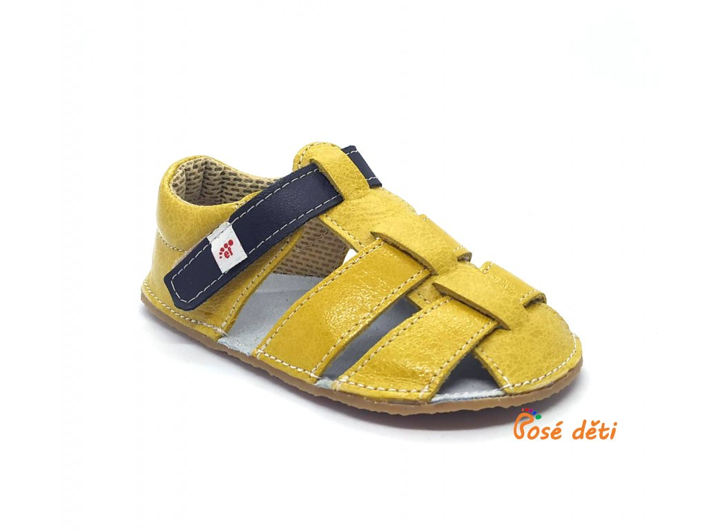 EF barefoot sandálky Žlutá