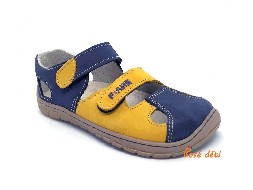 Fare Bare 5561281 - sandály kožené modrožluté