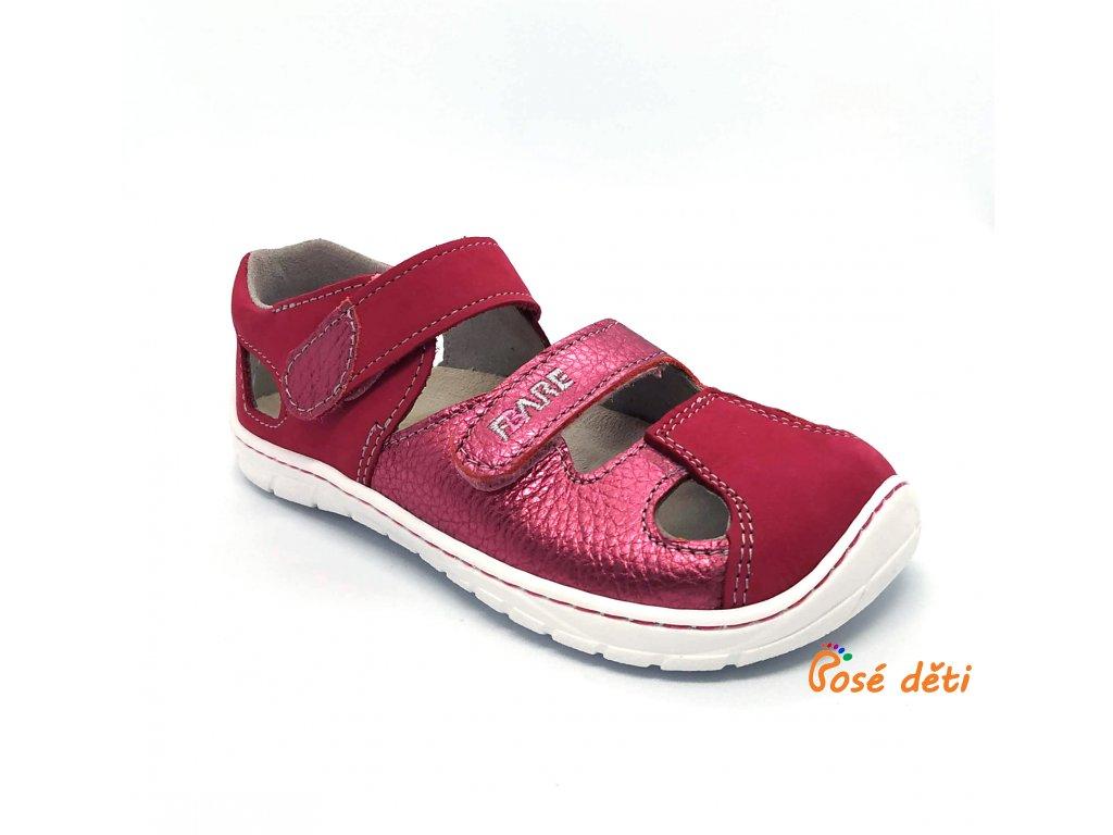Fare Bare B5561241 - sandály kožené růžové