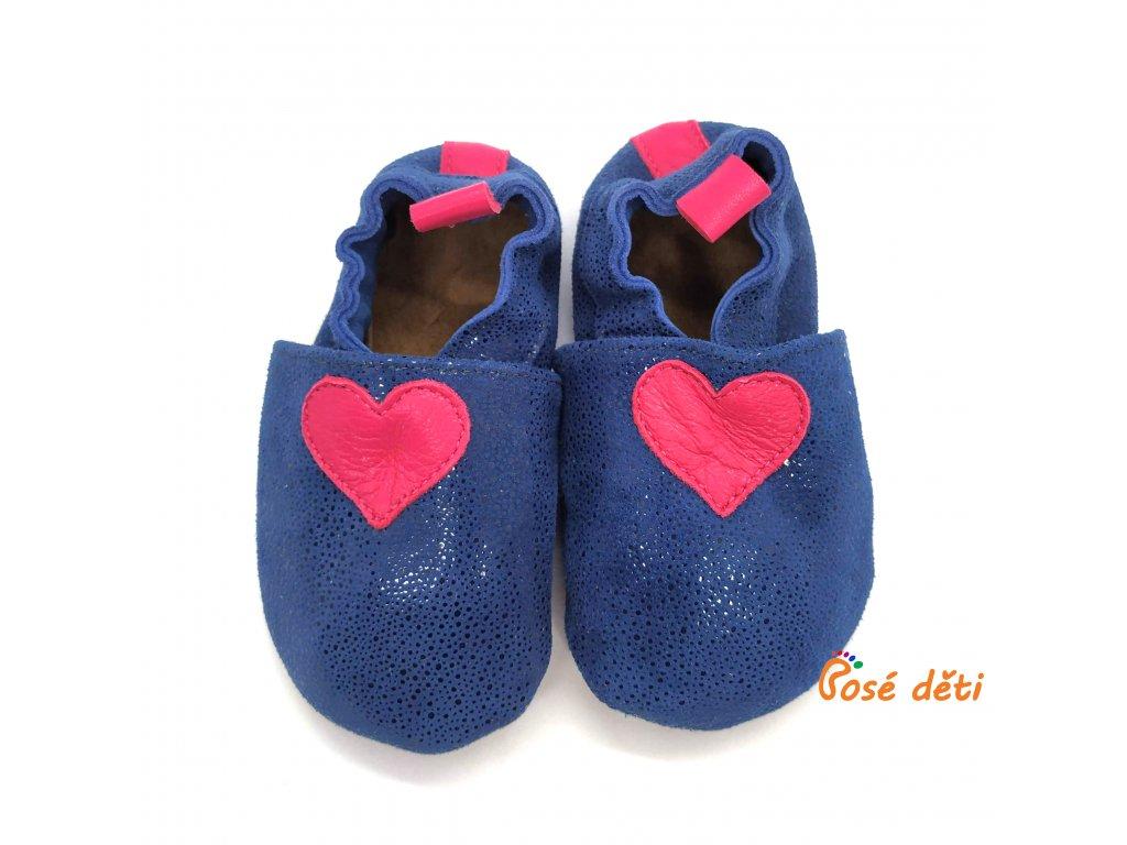Bosé děti - modré bubliny s růžovým srdcem