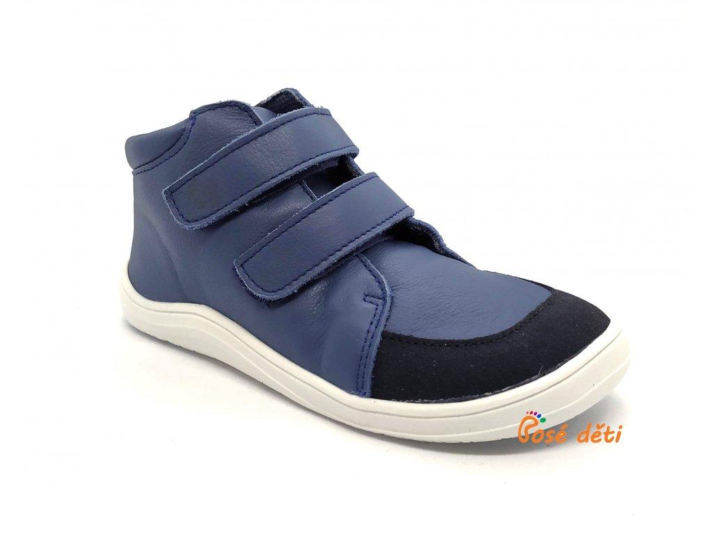 Baby Bare Shoes - FEBO Fall Navy Asfaltico