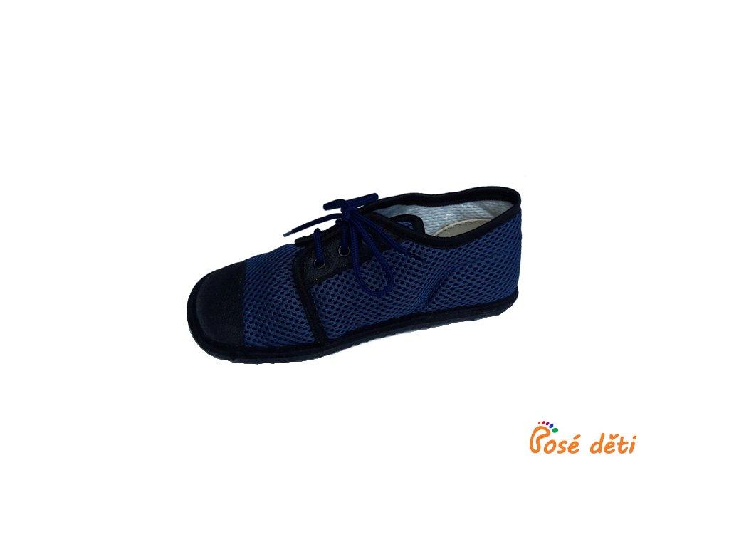 Beda tenisky tmavě modré (tkaničky) - tmavá podrážka