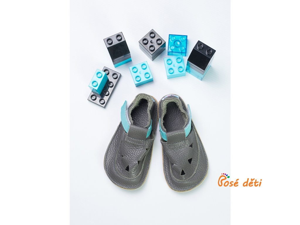 Baby Bare Shoes - Top Stitch Sandal Blue Beetle