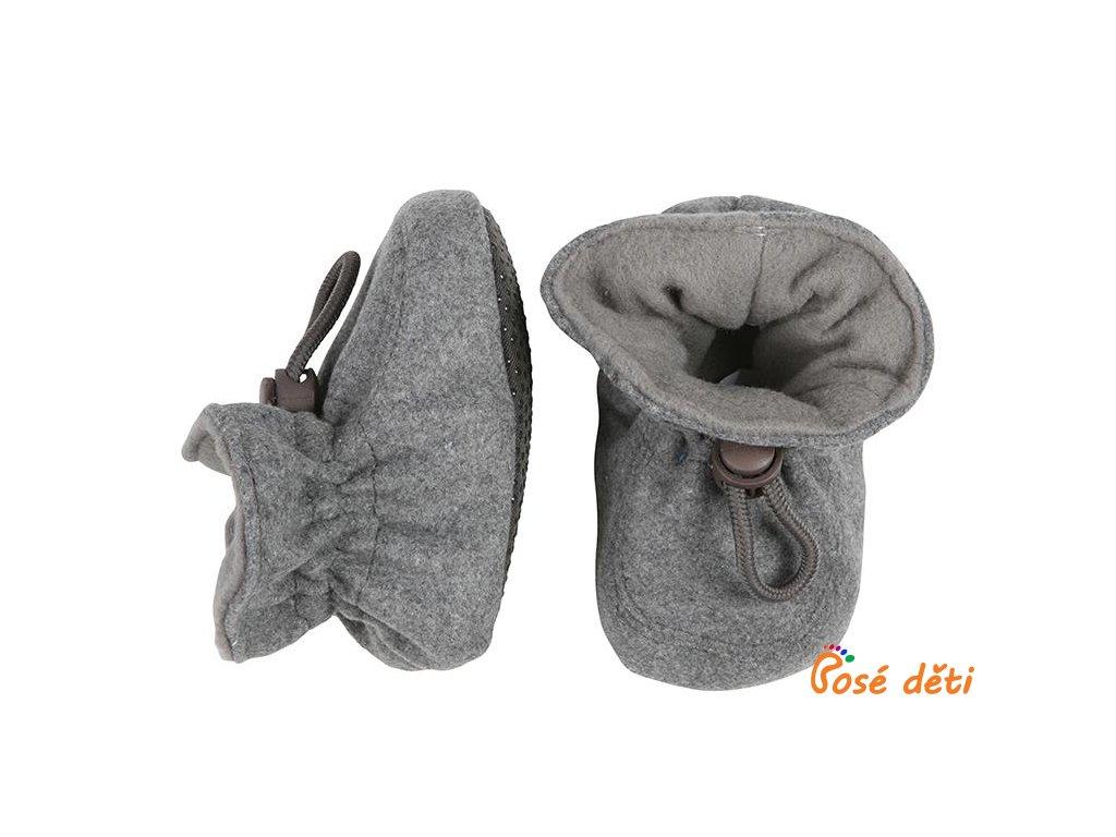 Move by Melton vlněné botičky - světle šedé