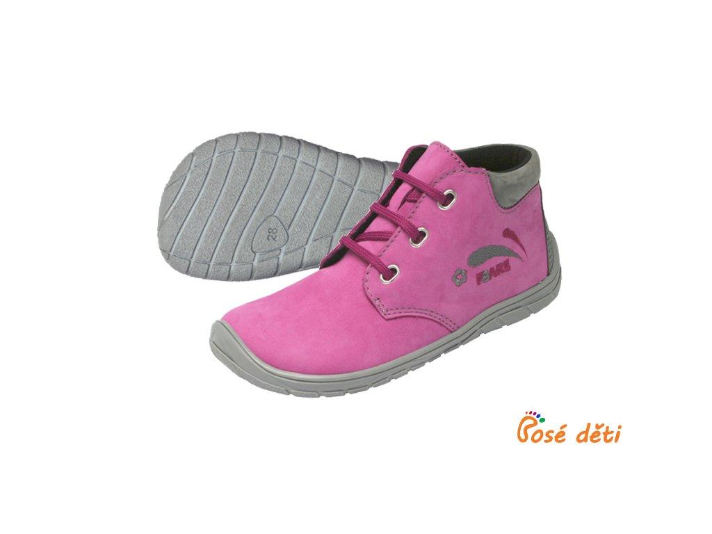 Fare Bare 5221251 - kotníkové růžové (tkaničky)