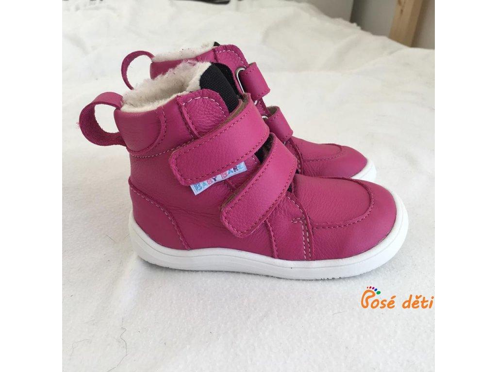 Baby Bare Shoes - FEBO Winter Fuchsia