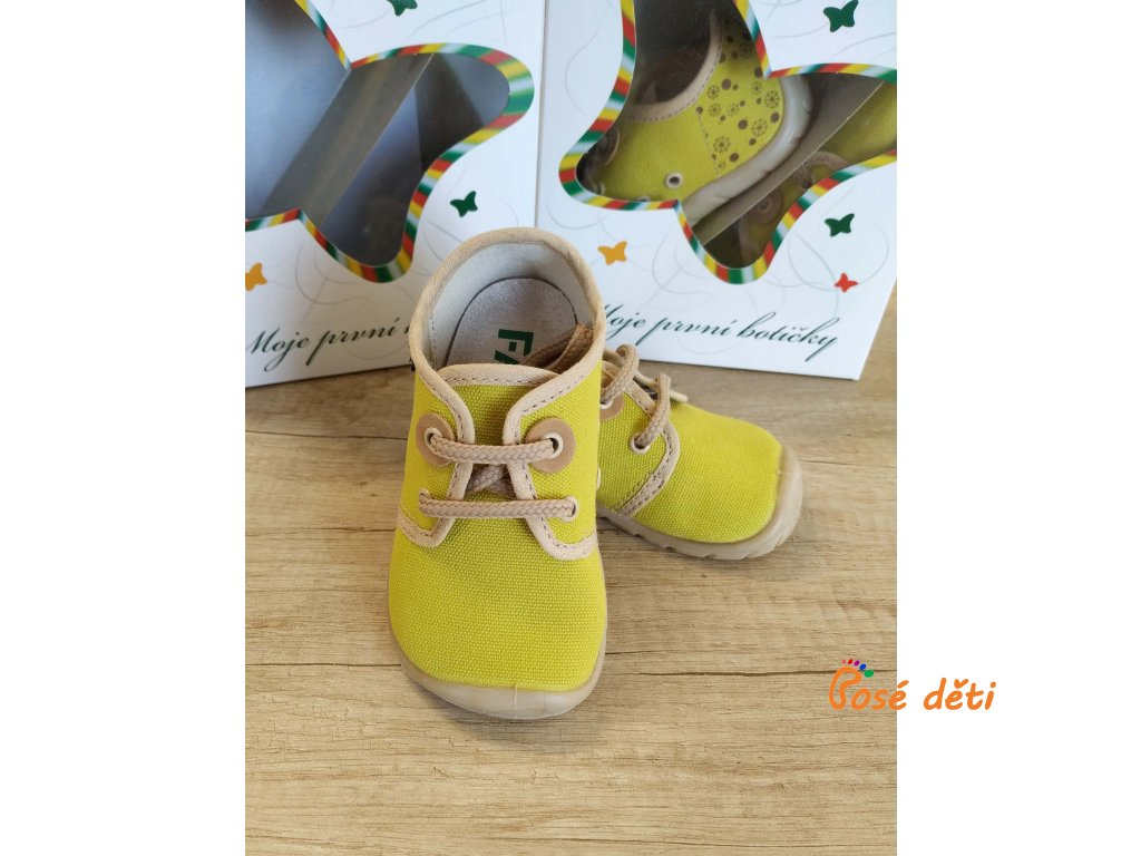 Fare Bare 5011431 - plátěnky žluté (tkaničky)