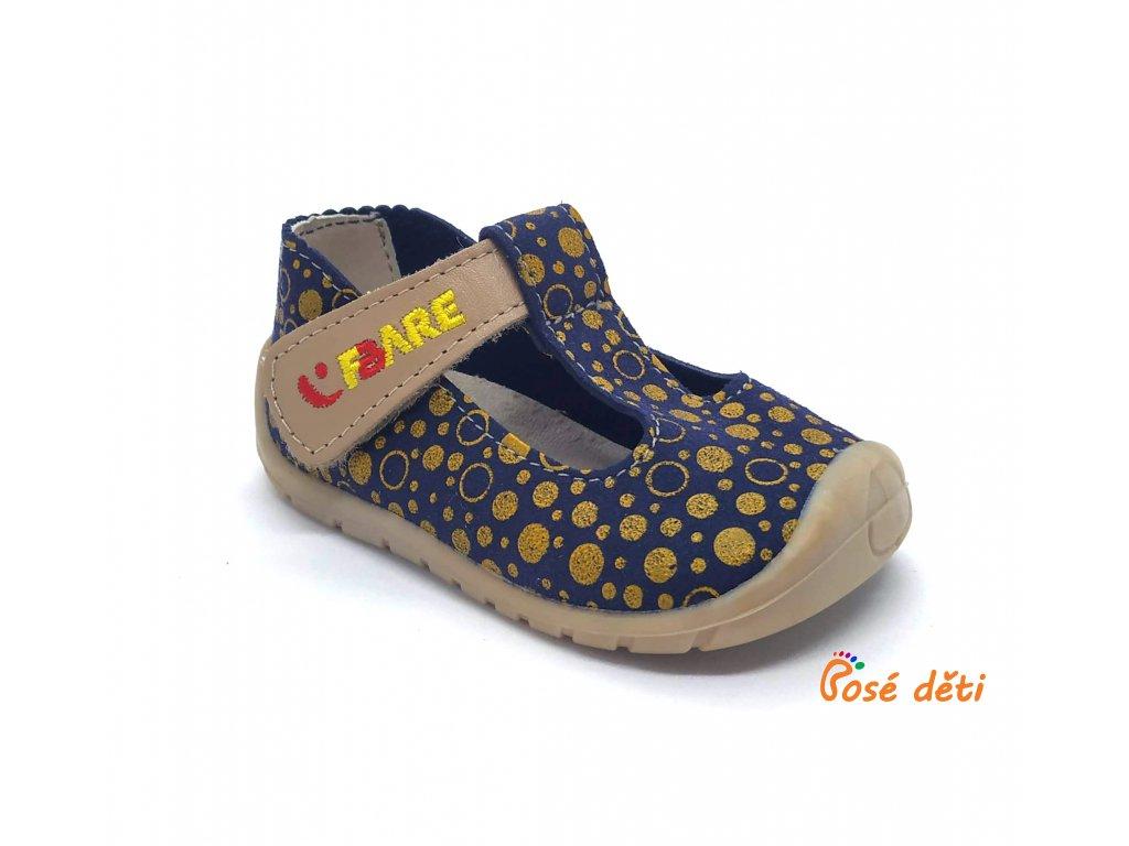 Fare Bare 5062201 - sandály textilní se žlutou