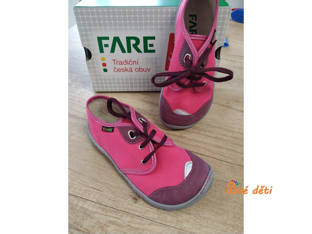 Fare Bare 5211451 - plátěnky růžové (tkaničky)