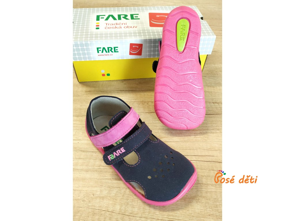 Fare Bare 5262251 - sandály textilní modrorůžové