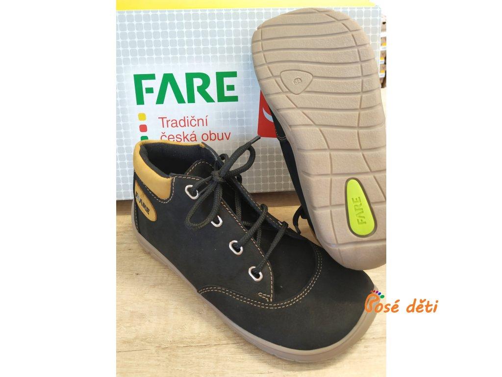 Fare Bare 5321211 - kotníkové černé (tkaničky)