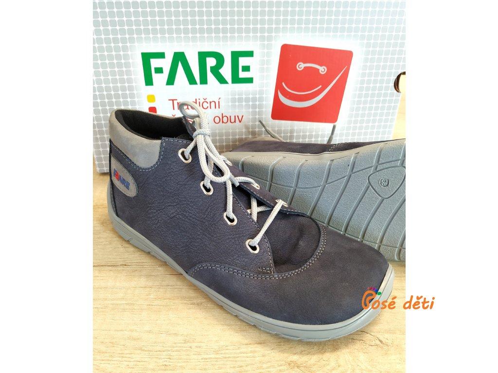 Fare Bare 5321201 - kotníkové modré (tkaničky)