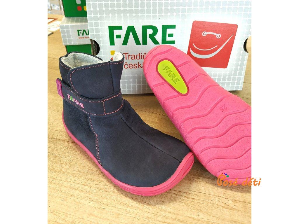 Fare Bare 5142201 - kozačky modrorůžové