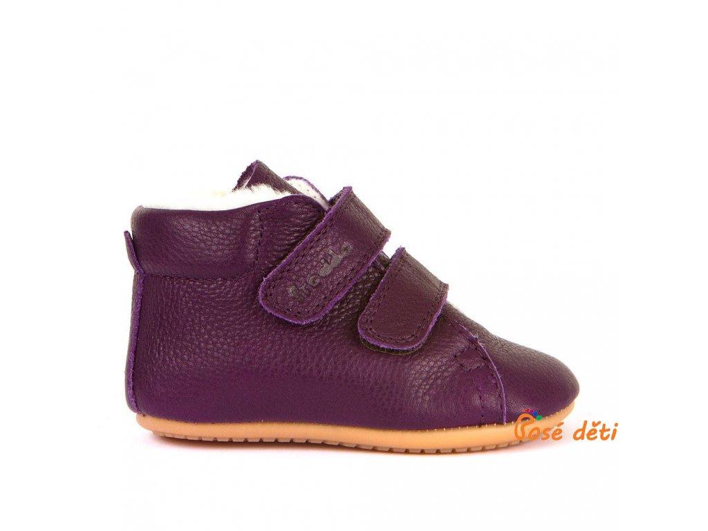 Froddo Prewalkers Winter Sheepskin Purple - nízké