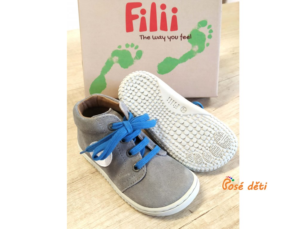Filii Barefoot - Gecko velours stone laces M