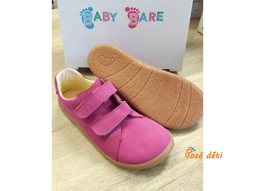 Baby Bare Shoes - FEBO Spring Fuchsia