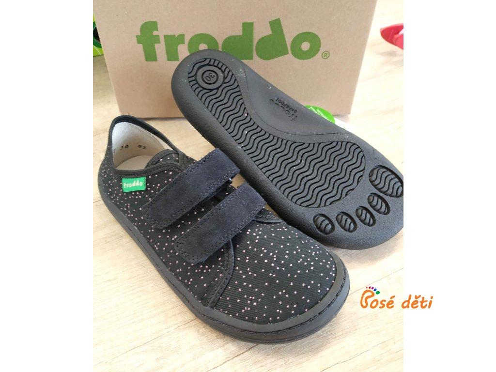 Froddo Barefoot plátěnky Black 2020