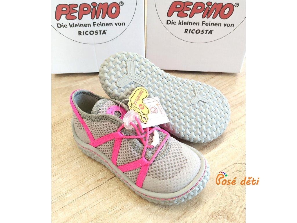 Ricosta Peppi Grau/NeonPink (tkaničky)