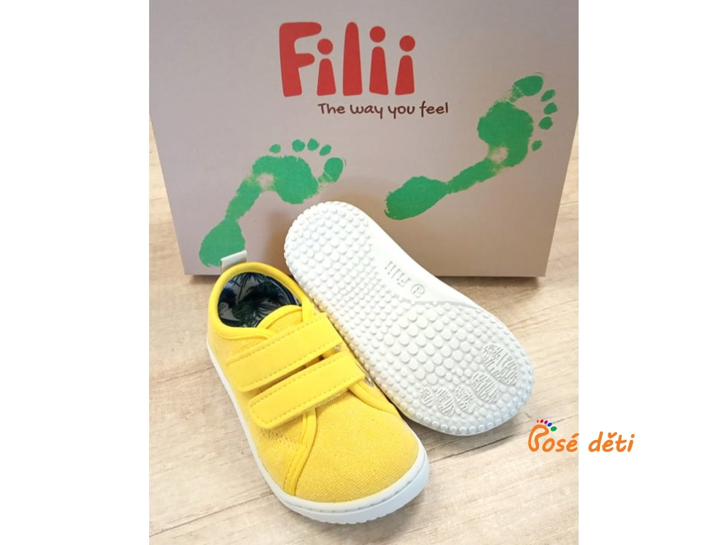 Filii Barefoot - O'ahu canvas vegan strap citrone M