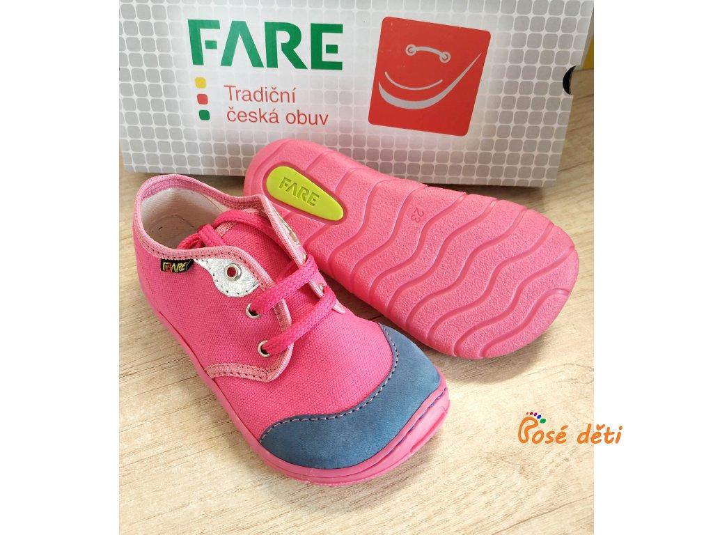 Fare Bare 5111451 - plátěnky růžové (tkaničky)