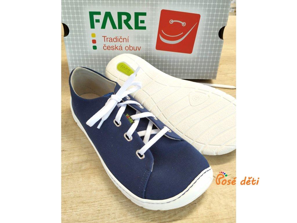 Fare Bare 5311401 - plátěnky modré (tkaničky)