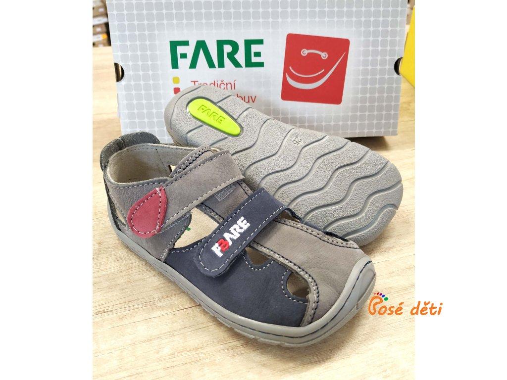 Fare Bare 5161261 - sandály kožené šedomodré