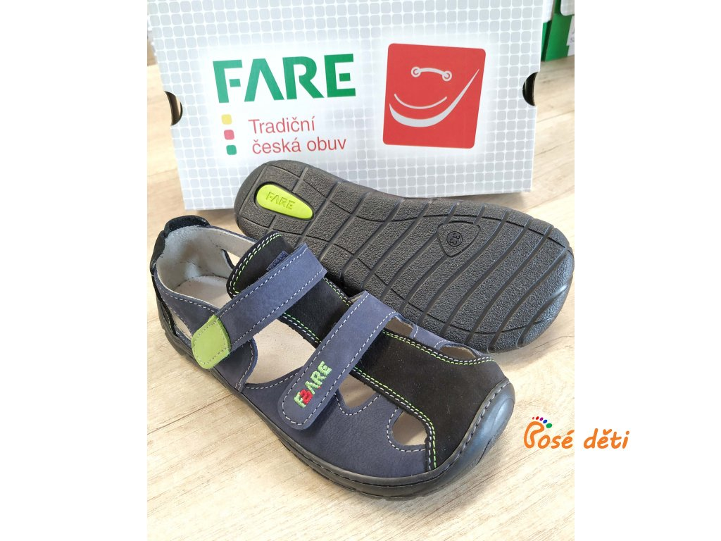 Fare Bare 5361201 - sandály kožené modré