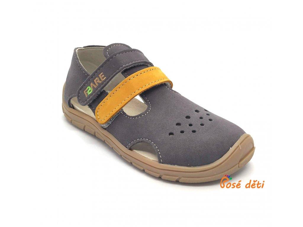 Fare Bare 5262261 - sandály textilní šedé