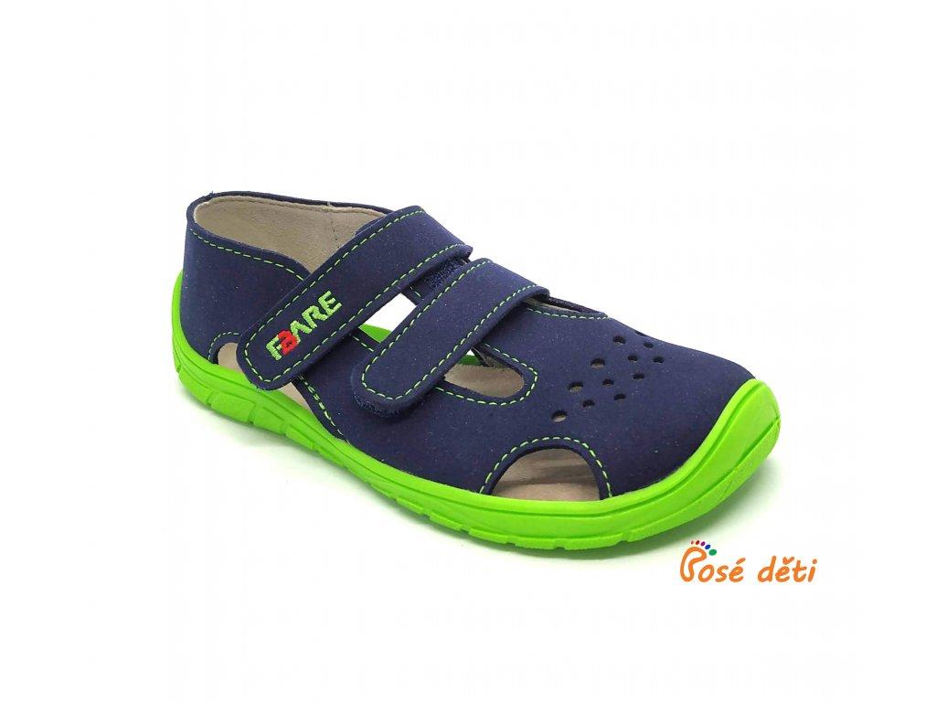 Fare Bare 5262201 - sandály textilní modrozelené