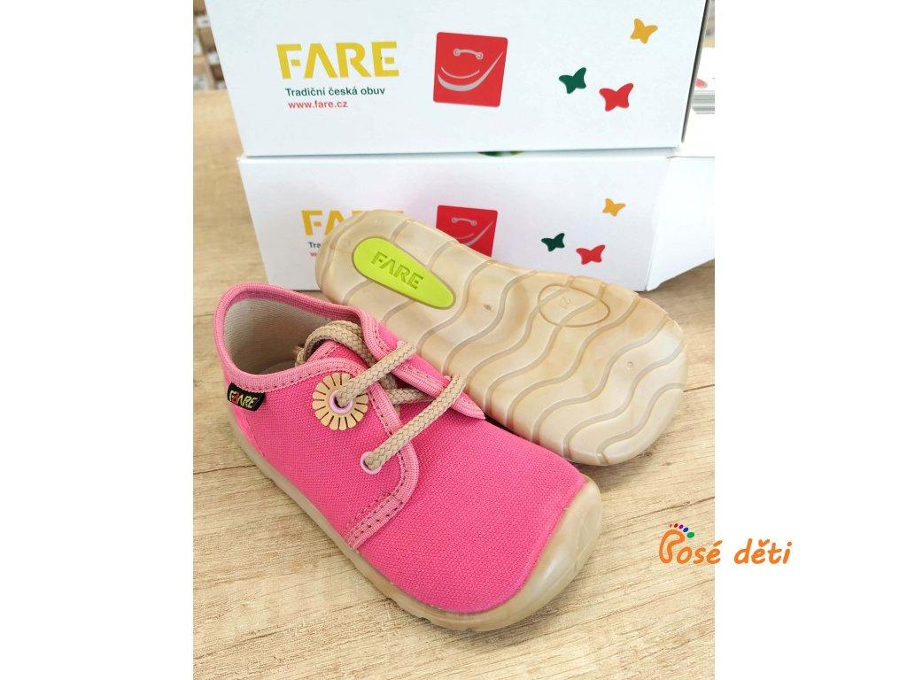 Fare Bare 5011451 - plátěnky růžové (tkaničky)