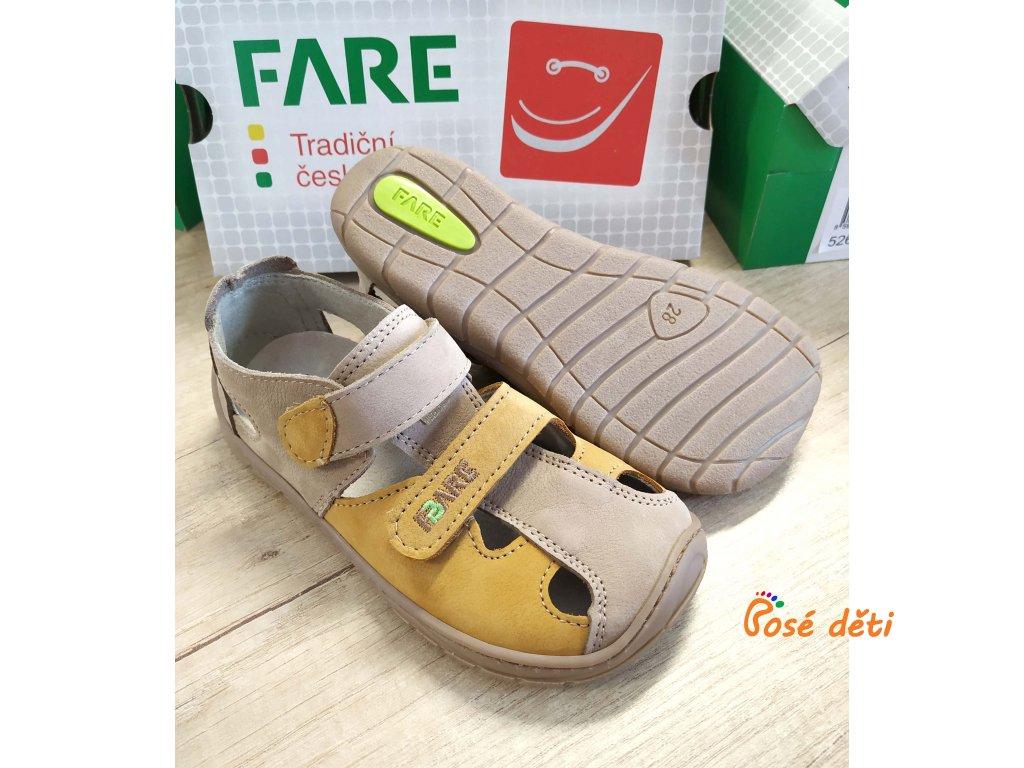 Fare Bare 5261281 - sandály kožené béžové