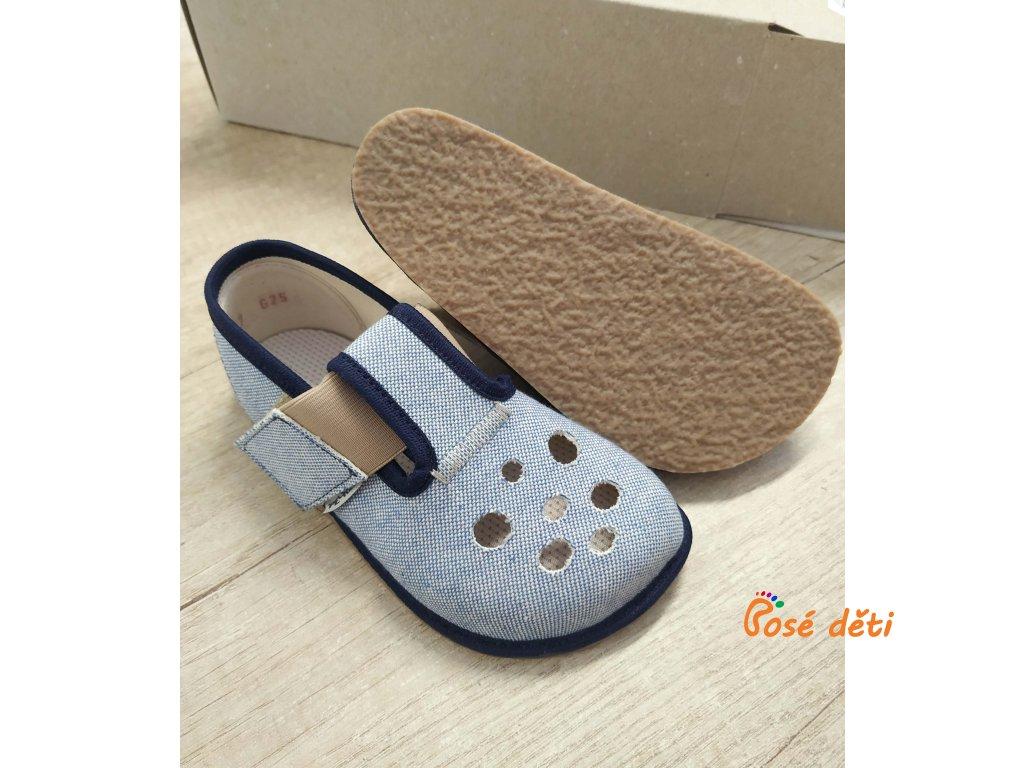 Barefoot Pegres papuče BF03 - letní modré