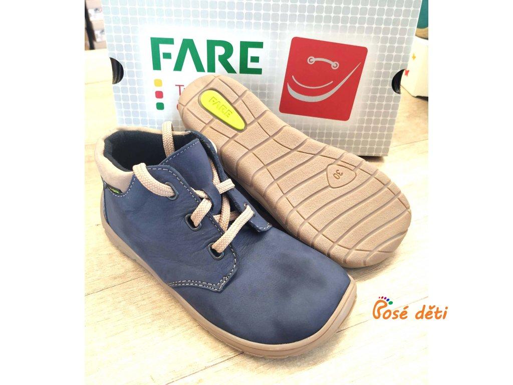 Fare Bare 5221203 - kotníkové modré (tkaničky)