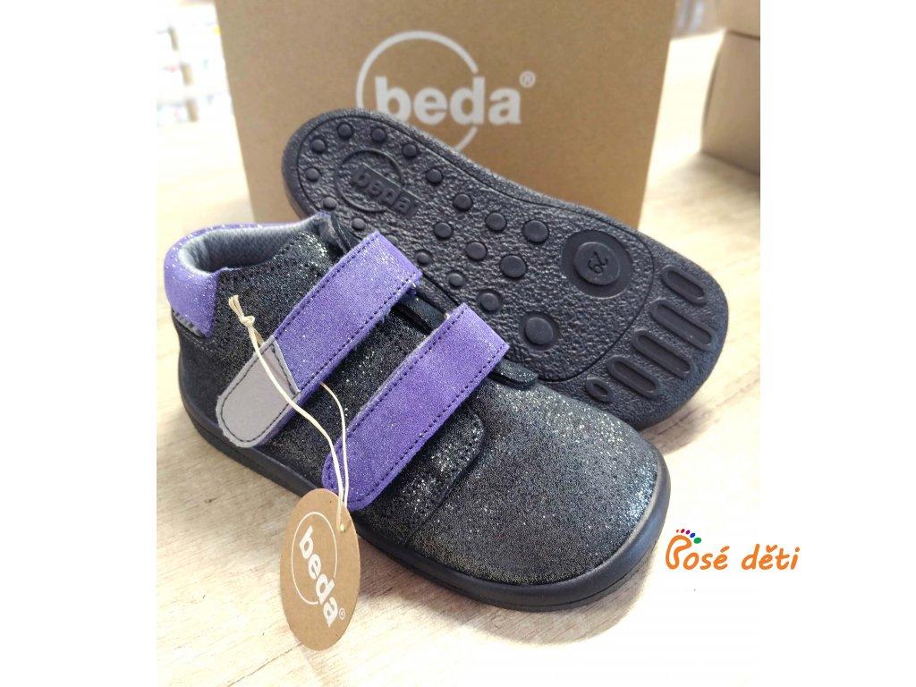 Beda Dark Violet - kotníkové