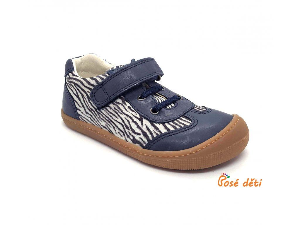 Koel4kids Bernardinho/Bernardo laces Blue/Zebra