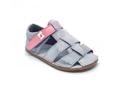 EF barefoot sandálky Stříbrná
