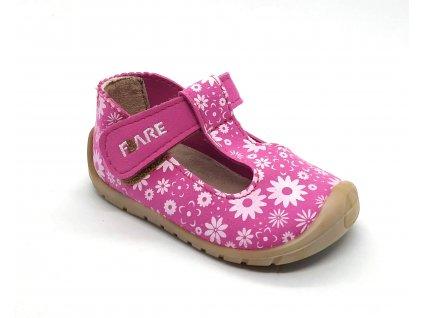 Fare Bare 5062252 - sandály textilní kytky růžové
