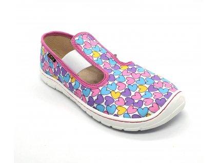 Fare Bare 5201451 - papuče s gumou - srdíčka