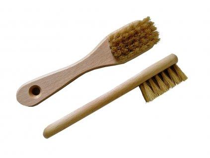 Kartáček na semiš s rukojetí - dřevěný