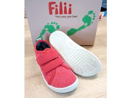 Filii Barefoot - O'ahu canvas vegan strap chilli M