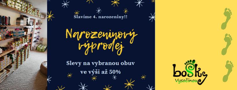 Narozeninový výprodej - slevy až 50%!!!