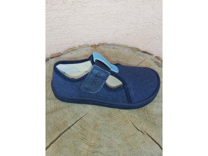Froddo Barefoot plátěné sandály Dark Blue